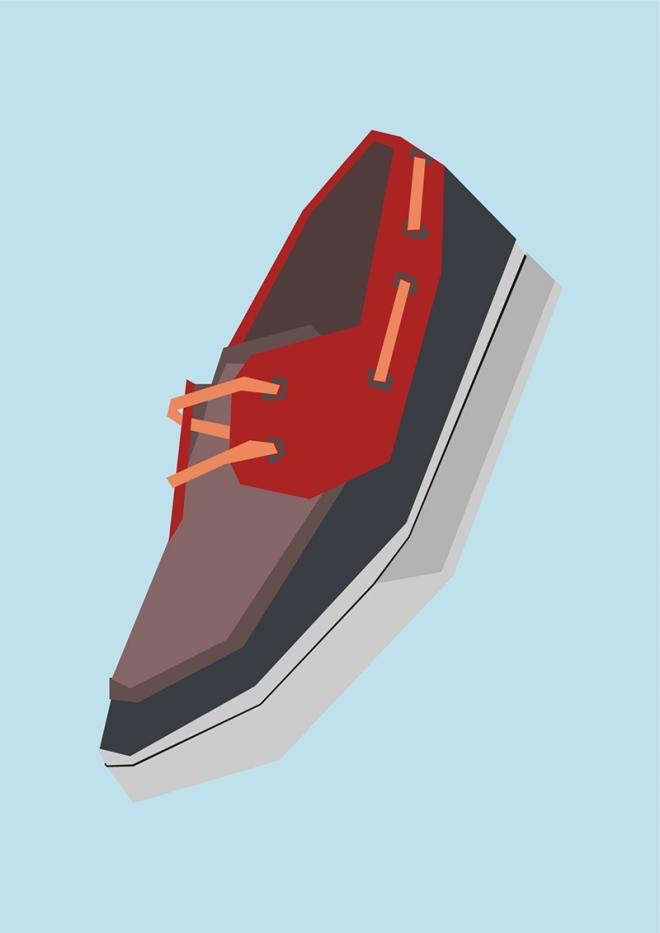 Simple Sneakers – Artwork by Chris Anderson