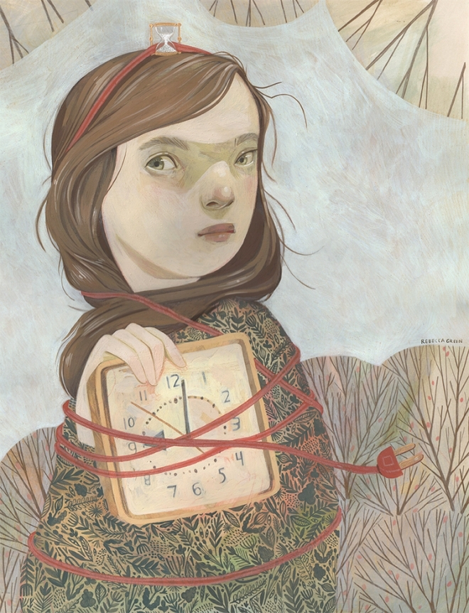Girls and animals explore nature in these charming