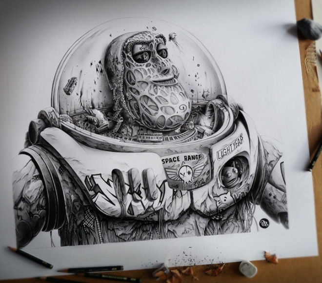 Illustrator gives a dark twist to everyone's favourite characters!