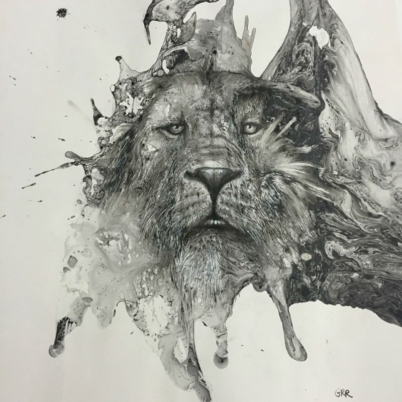 Beautiful ink splatter illustrations by Canadian illustrator Glen Ronald