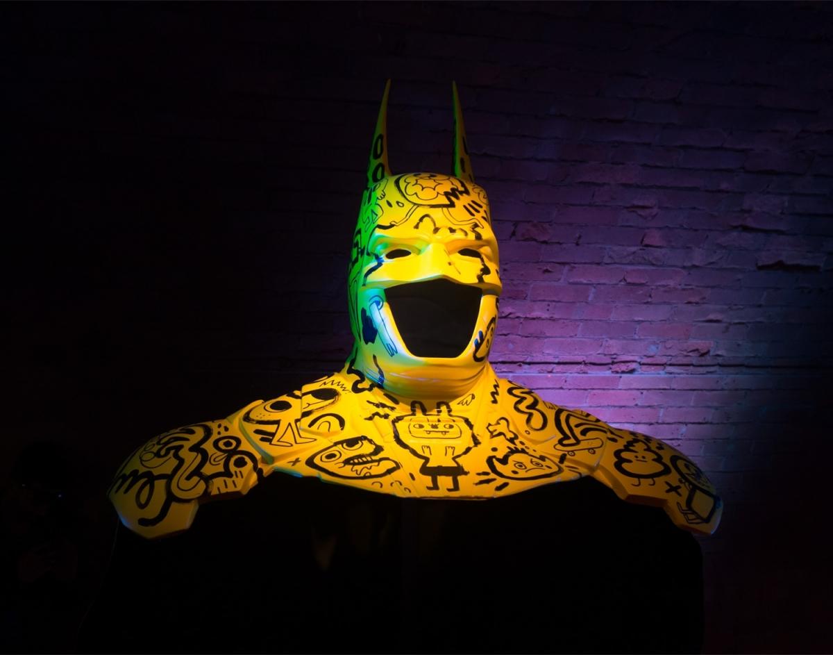 See Jon Burgerman and other artists' customised Batman