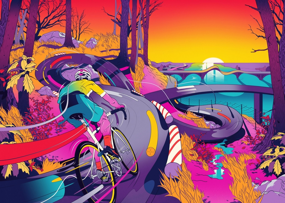 Psychedelic dreamscapes and kooky characters