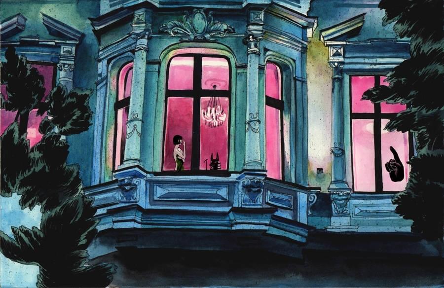 Beautifully dark illustrations by Julia Petrova
