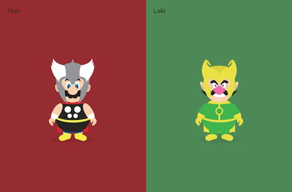 Super Mario Bros / Superheroes mashup!