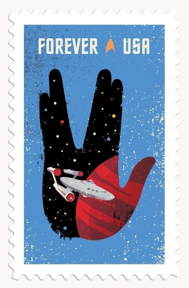 Star Trek 50th Anniversary Stamp Collection
