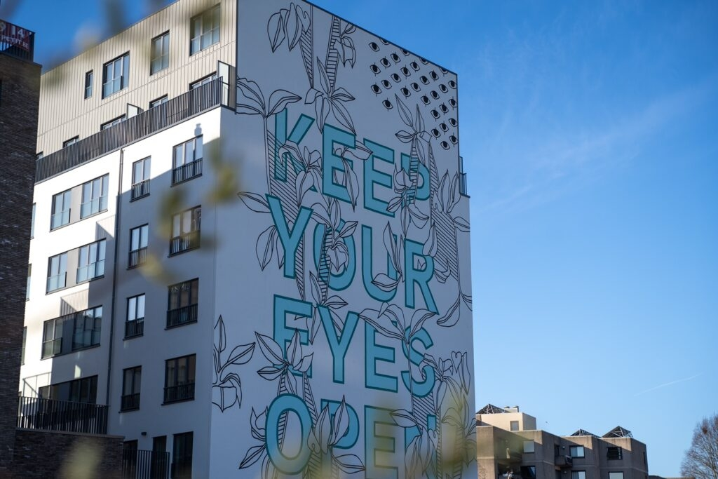 """""""Keep Your Eyes Open"""" by Atelier Louves and TAVU - Brussels, Belgium"""