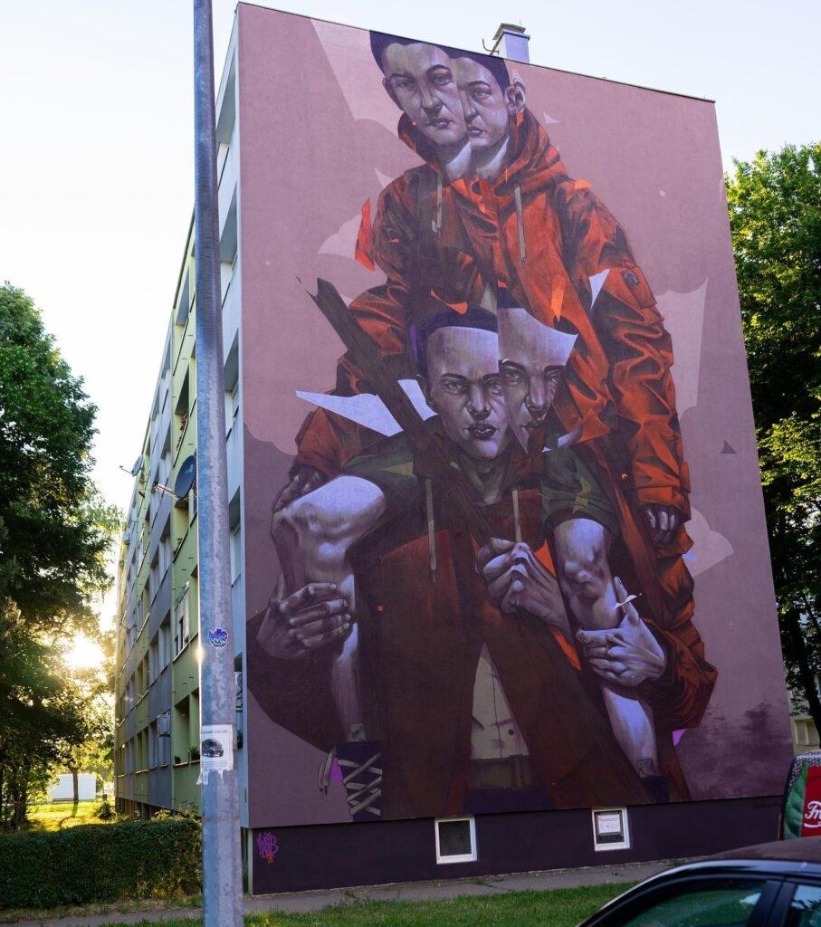 """INSEPERABLE"" by Mr. Woodland in Vukovar, Croatia"
