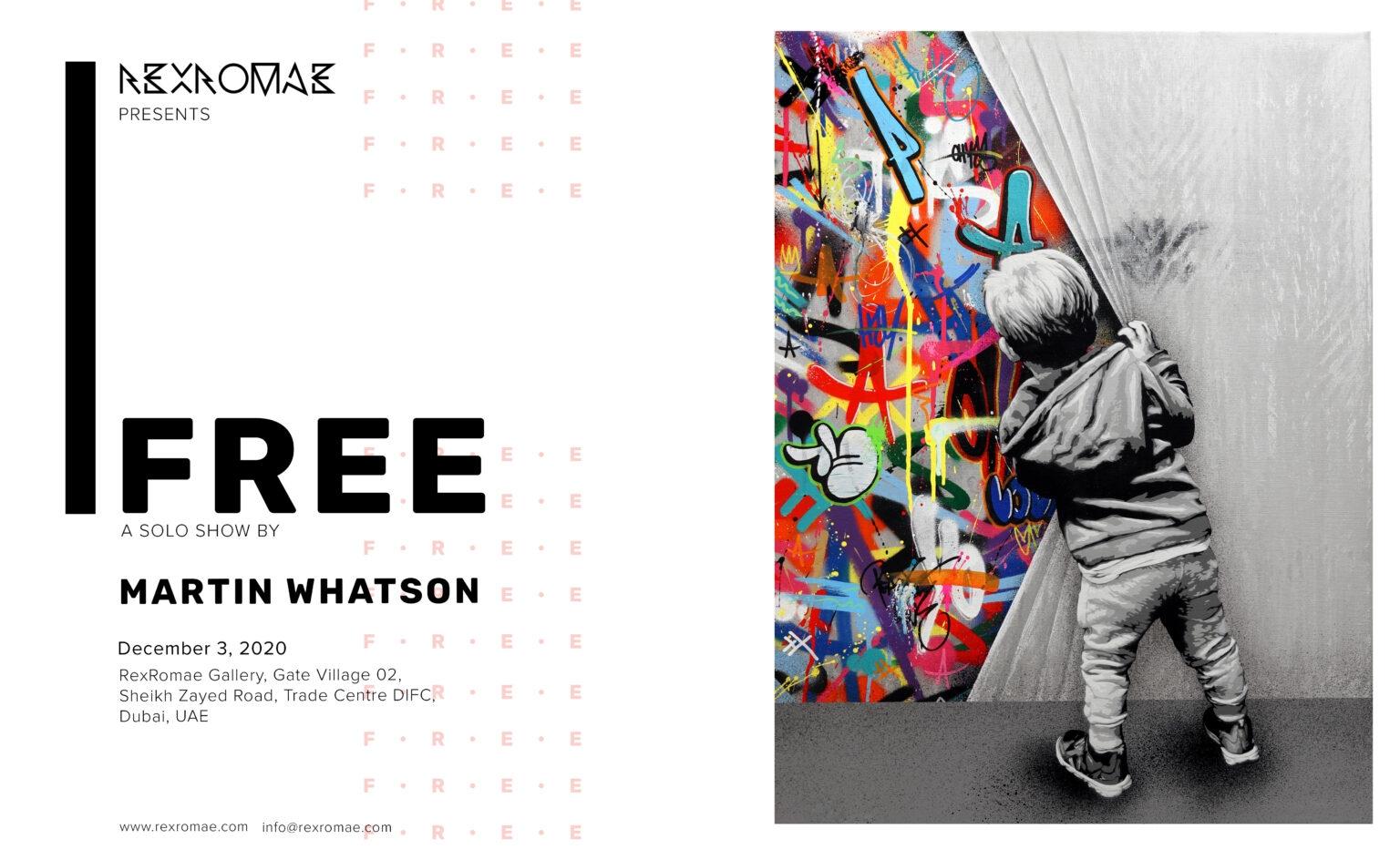 "Martin Whatson ""Free"" Solo Exhibition at Dubai's RexRomae Gallery"