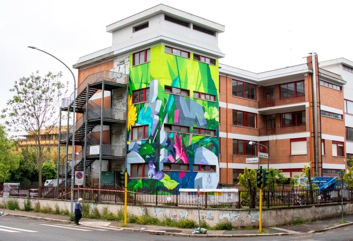 """""""Botanica Resistente"""" by ETNIK in Rome, Italy"""