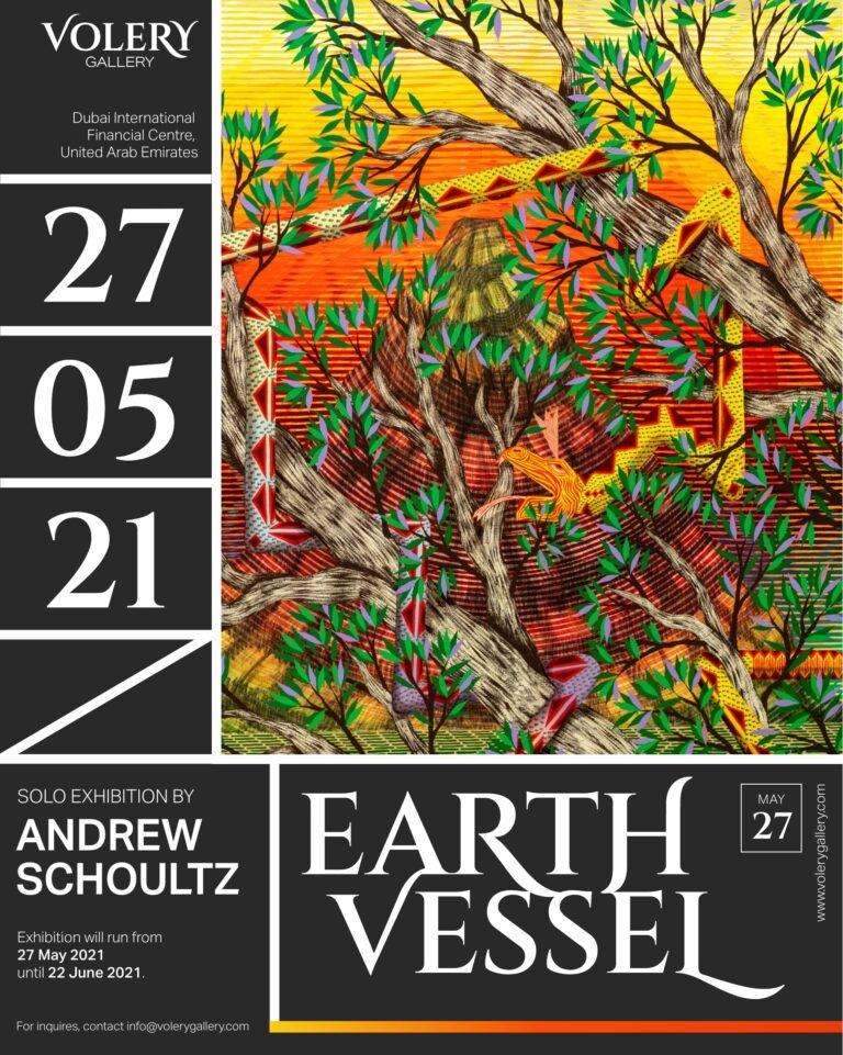 """""""Earth Vessel"""" Solo Exhibition by Andrew Schoultz at Volery Gallery in Dubai, UAE"""