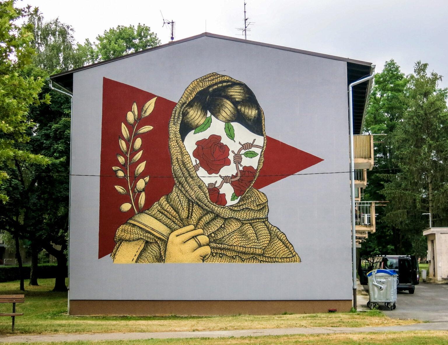 Mural by PoliteBastART in Sisak, Republic of Croatia
