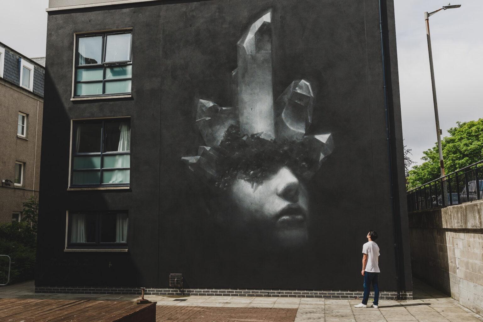 Mural by Henrik Uldalen in Aberdeen, Scotland