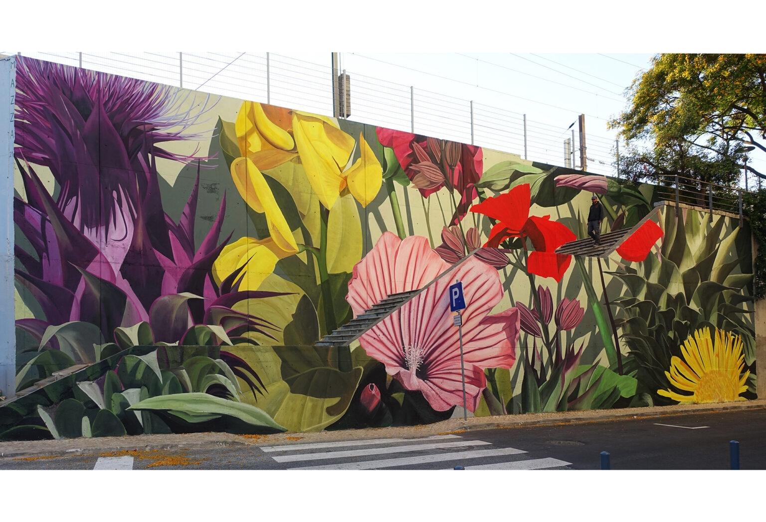 Mural by Thiago Mazza in Lisbon, Portugal