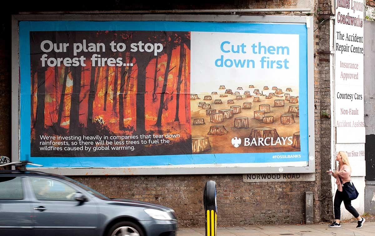 Brandalism Hacks More Than 200 Billboards Across UK