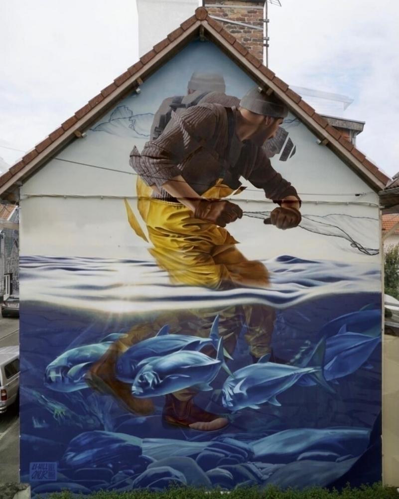 """On the Horizon"" by ONUR, Li-Hill, and James Bullough in Nord-Pas-de-Calais, France"
